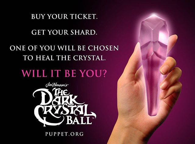 This Thursday is the Dark Crystal Ball!  The new exhibit is full of amazing puppets that haven't been shown before. A ticket to the party comes with a crystal shard, handmade by me. I've been working hard with other talented artists to get things ready! Get your ticket at puppet.org