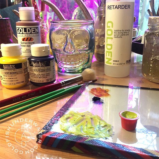 Monday paint vibes   cadmium yellow light + phthalocyanine blue (green shade) + quinacridone/ nickel azo gold
