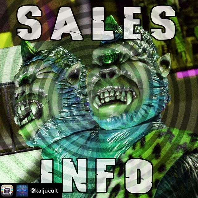 "Don't forget to RSVP to make sure you get your pick of the toys ️👁! Repost from @kaijucult using @RepostRegramApp - For sales this year we'll be doing an RSVP system with first-come-first-served after all RSVPed sales are completed. When sales begin if you haven't RSVPed you can get a number and hang out until your number is called.Sales will be limited to 3 toys per person, 1 toy per artist. If you want more, just grab a number!To RSVP, e-mail kaijucultatl@gmail.com with the subject ""GIMME DAT SWEET SWEET SOFUBI""! Include your name and IG handleShow starts at 7PMSales begin at 8PMA very special movie screening you won't want to miss at 9:30PMLive Bands at 10PM to MidnightWe will post the RSVP order, so you can just hang out and enjoy the show until you're called.#kaijucult #sofubi"