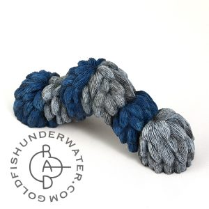 Woolley Caterpillar (blue/ white)